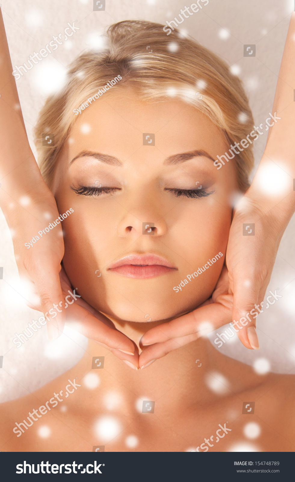 health and beauty concept woman in spa salon getting face treatment stock photo 154748789. Black Bedroom Furniture Sets. Home Design Ideas