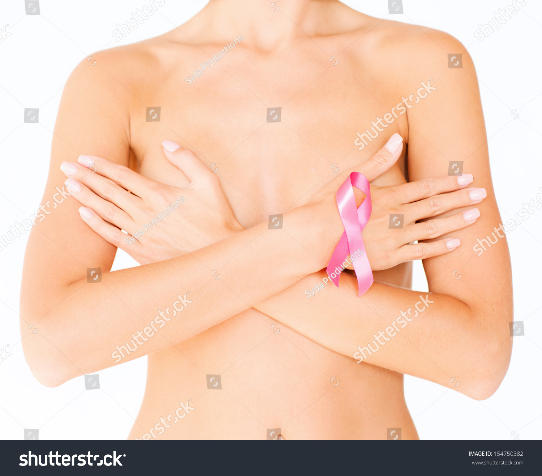 Woman Doing Self Breast Examination Stock Photo -