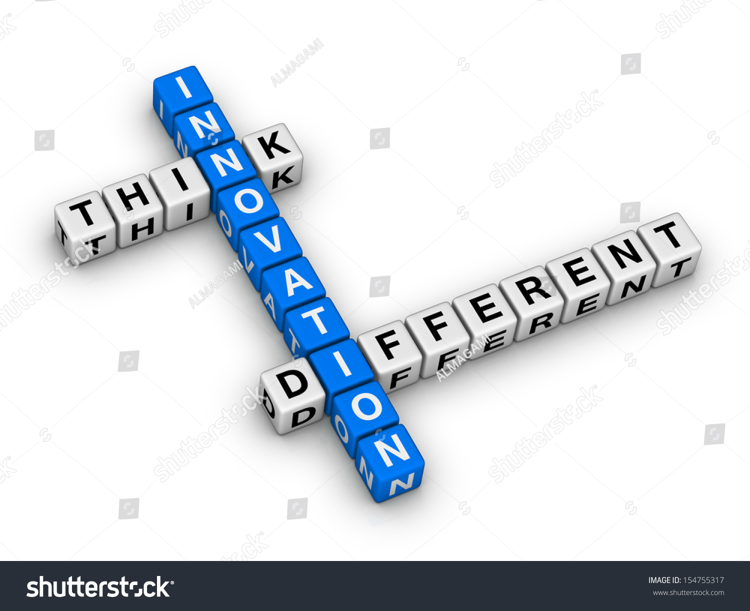 Innovation - Think Different Crossword Puzzle Stock Photo 154755317 ...