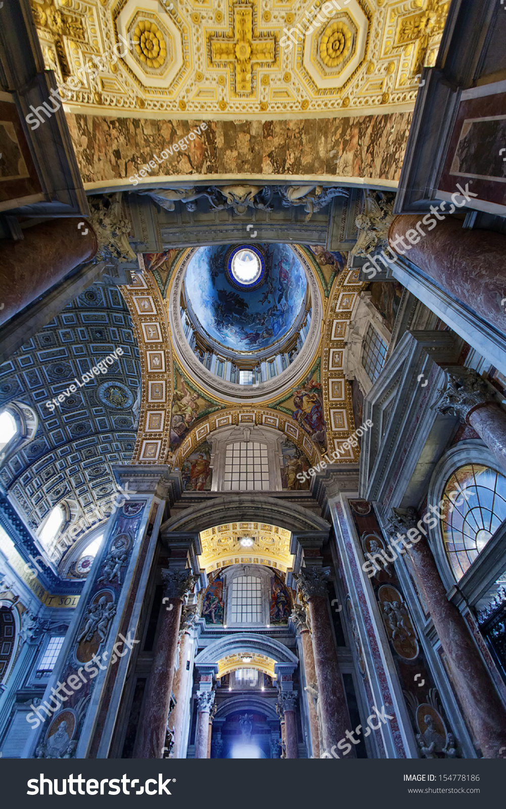 Vatican City, Rome-May 8:St Peters Basilica One Of The