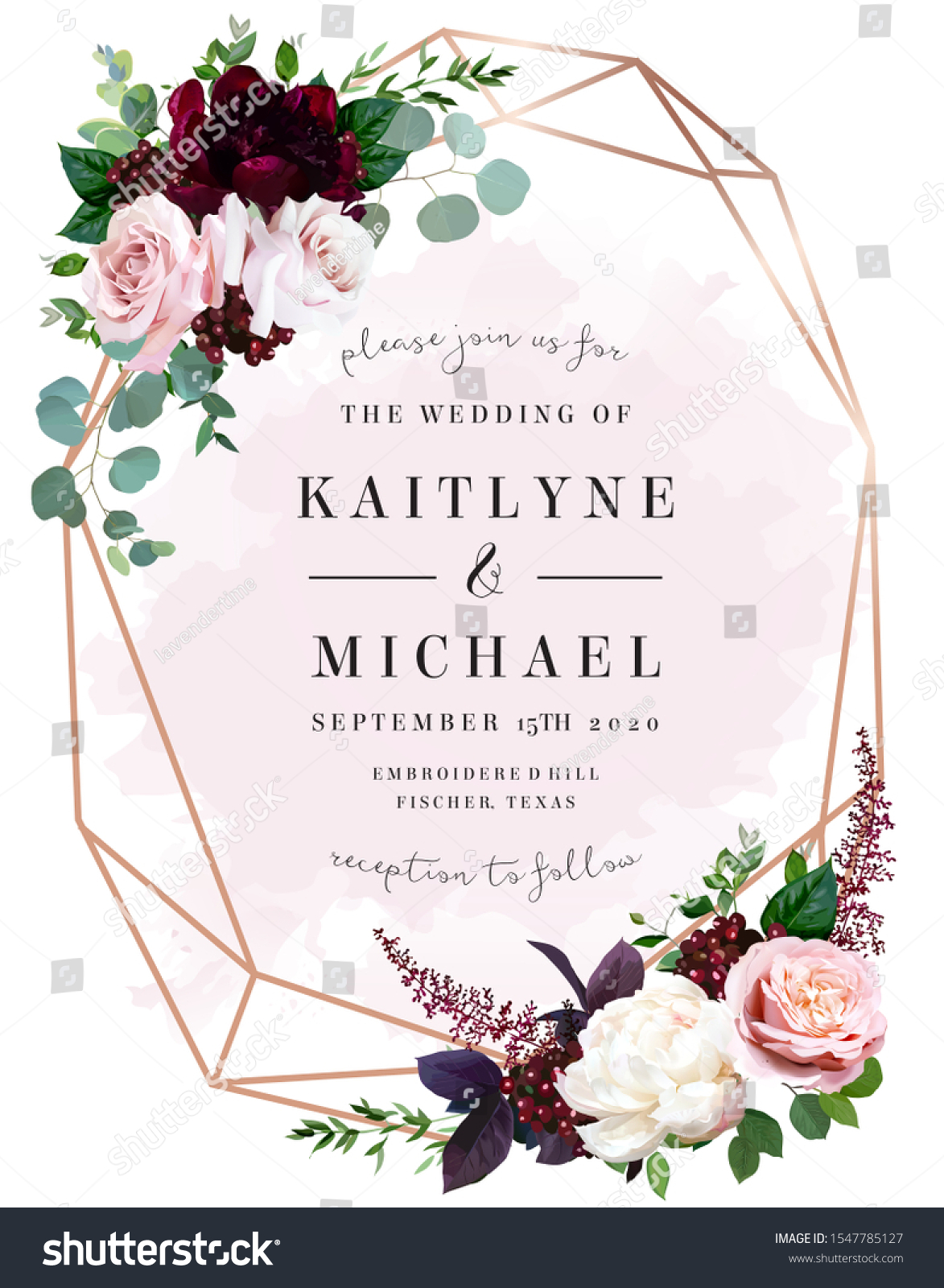 Luxury Fall Flowers Wedding Vector Bouquet Stock Vector Royalty Free 1547785127
