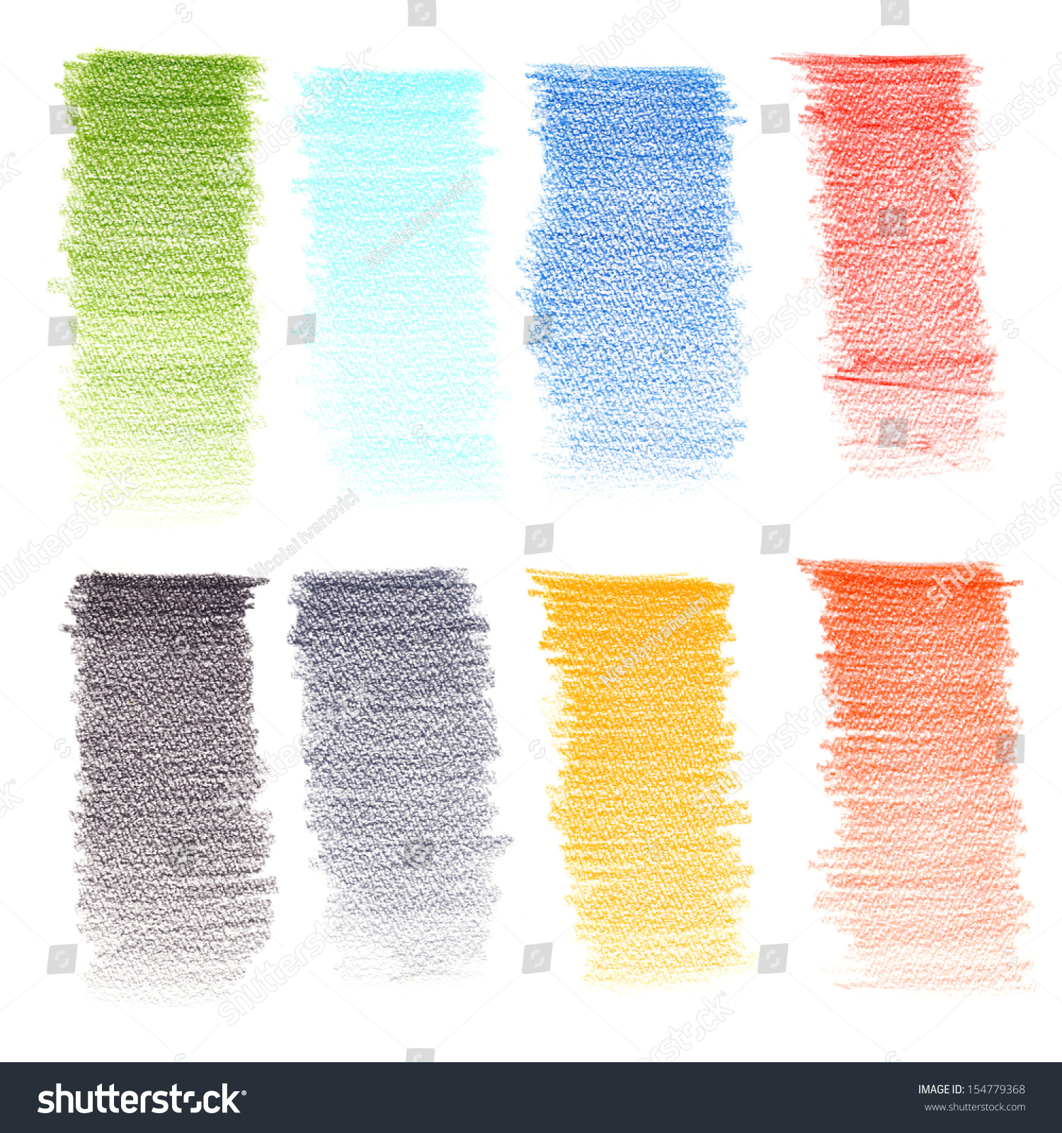 Color Pencil Texture Stock Photo 154779368 : Shutterstock