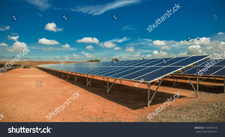 Solar farm stock photo 154787219 shutterstock for Solar ranch