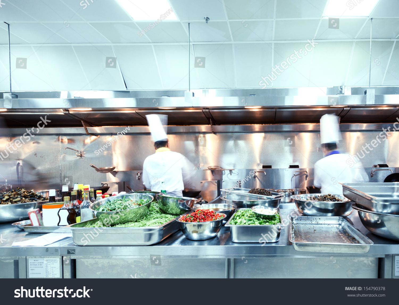 Motion Chefs Restaurant Kitchen Stock Photo (Edit Now) 154790378 ...