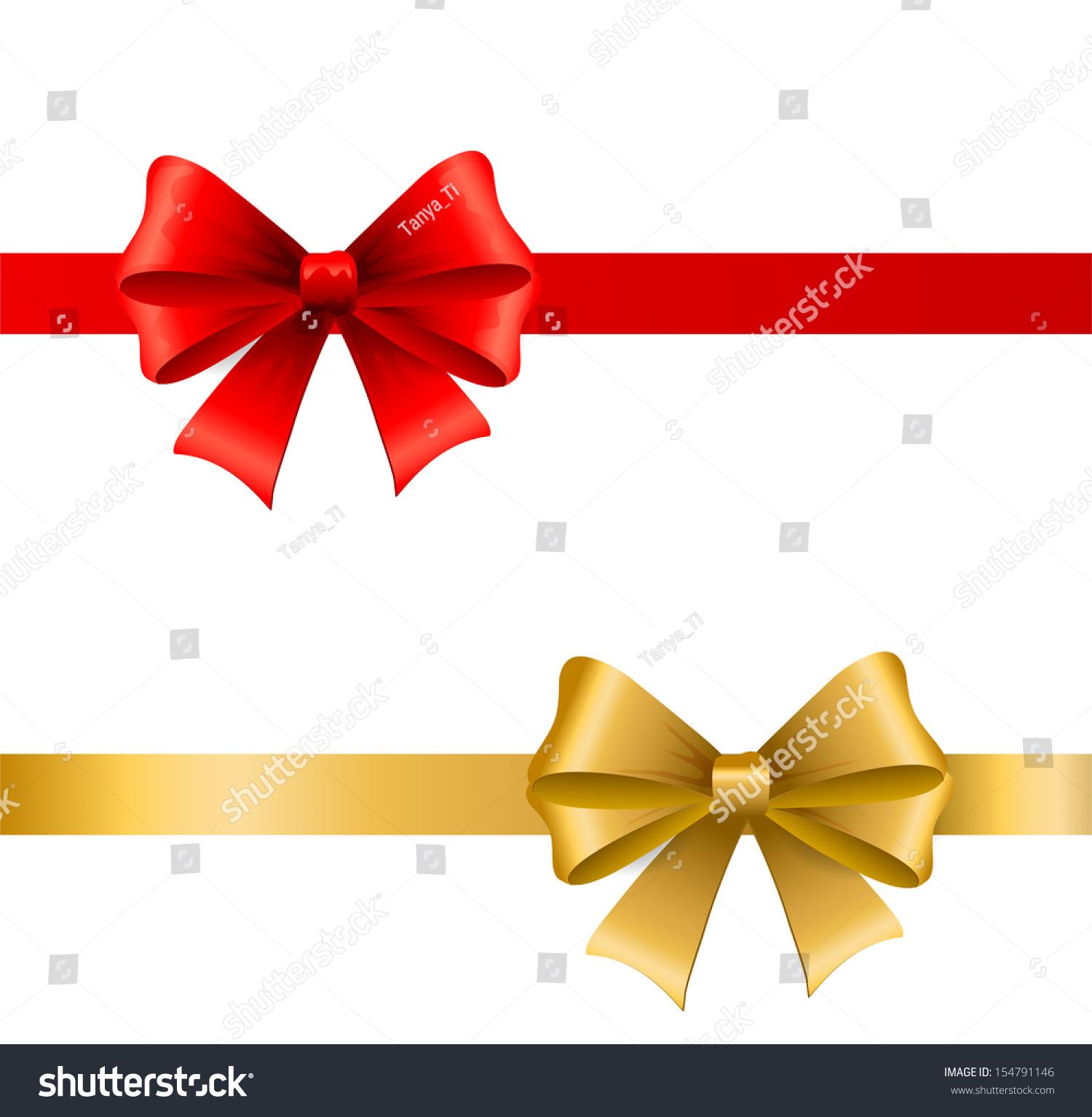 Holiday ribbon bow stock vector shutterstock