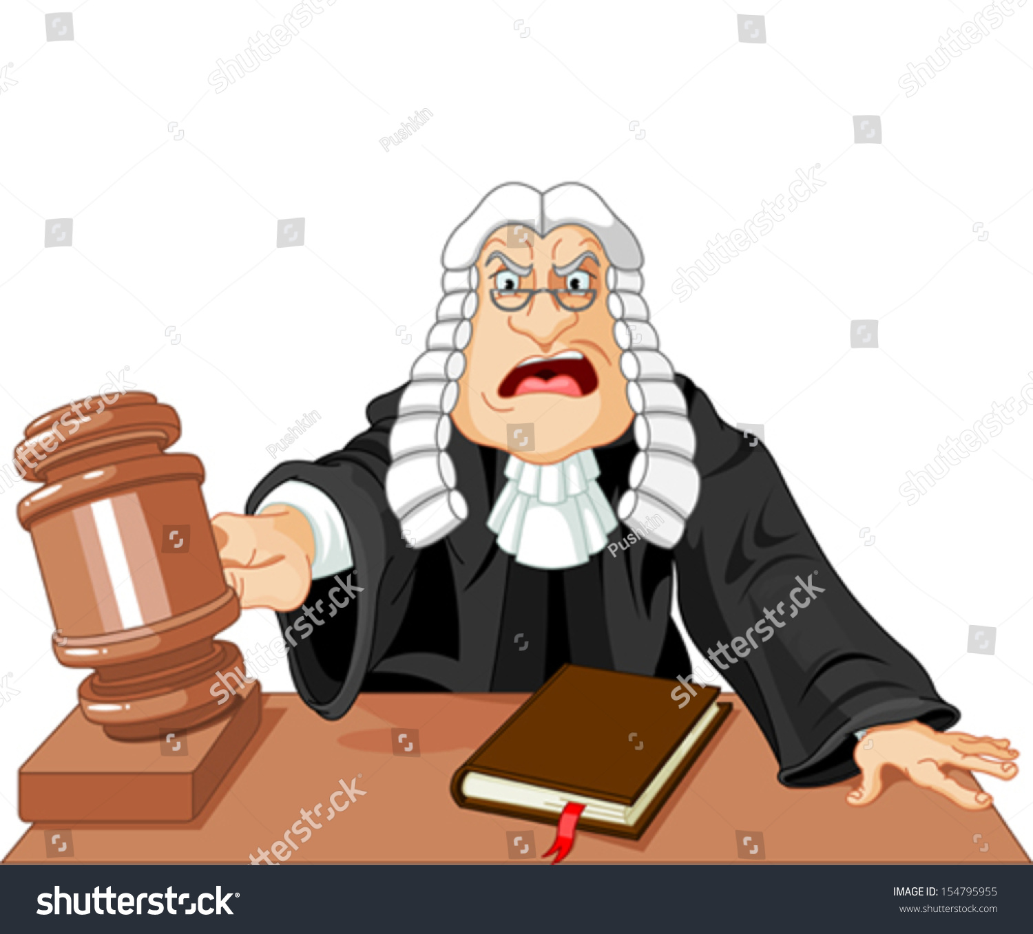 angry judge gavel makes verdict law stock vector 154795955 Professional Lawyer Clip Art Professional Lawyer Clip Art