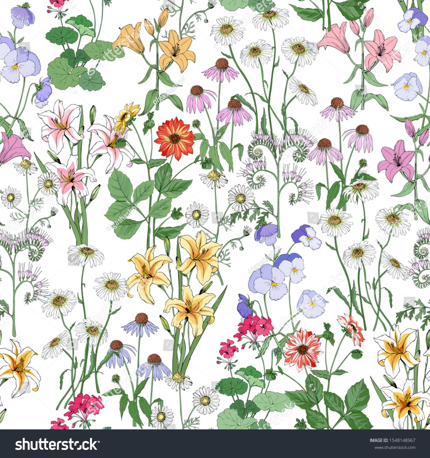 Summer Wildflowers Clip Art