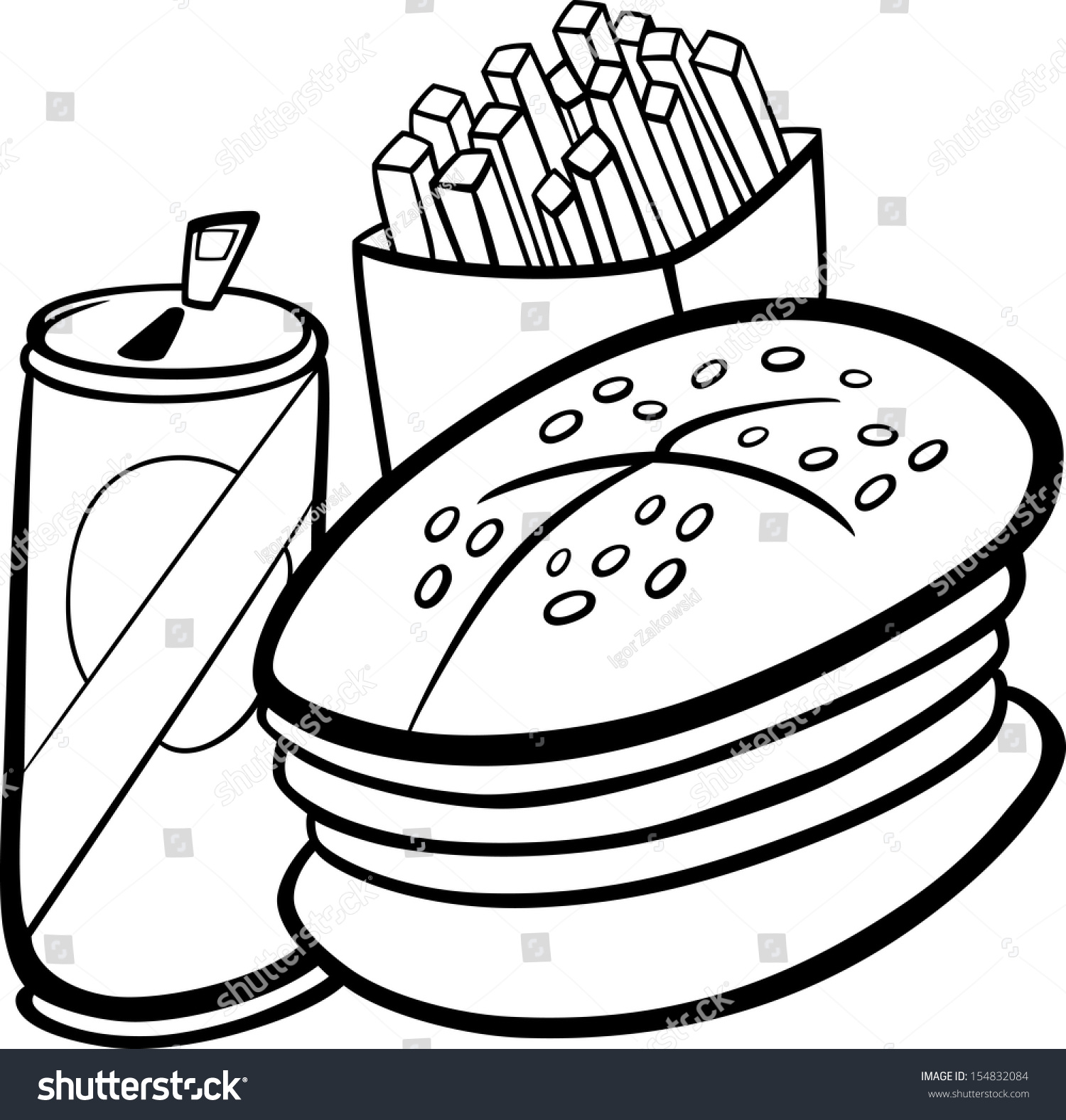 free black white food clipart images - photo #8