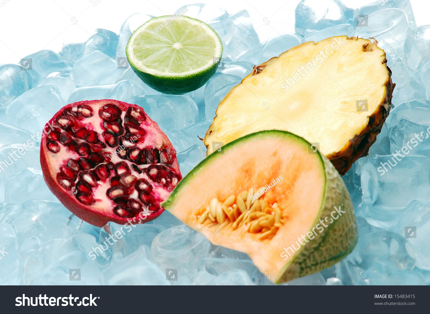 Tropical Fruits On Ice Stock Photo 15483415 : Shutterstock