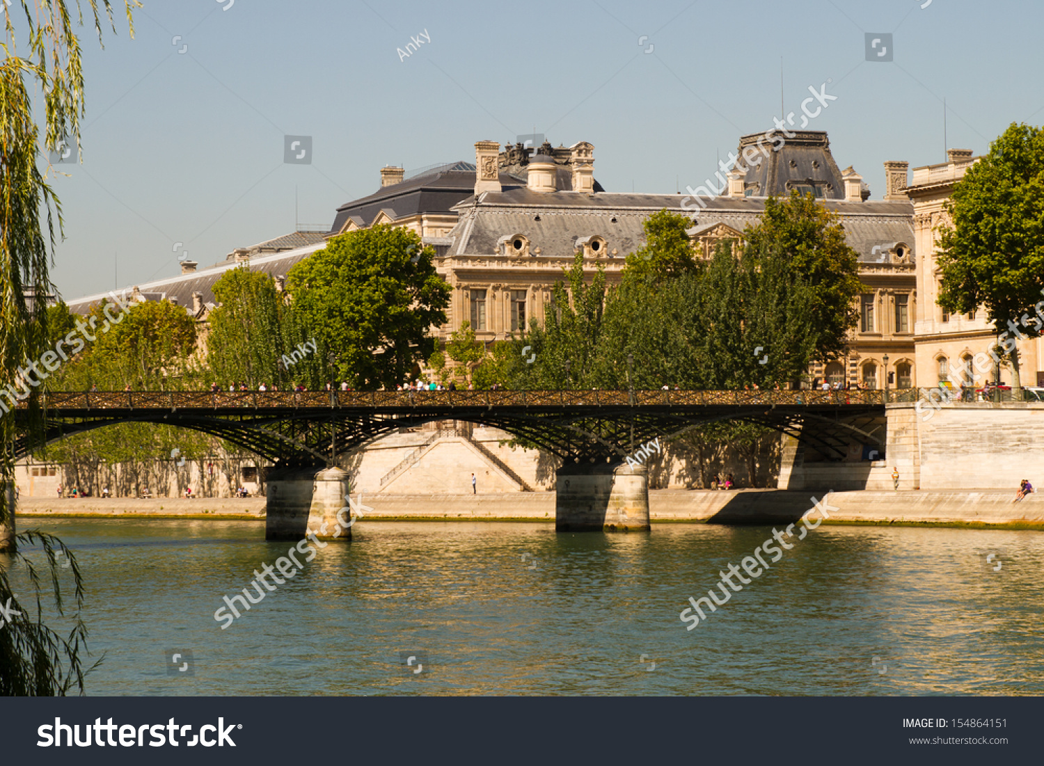 The love locks les cadenas de l 39 amour at pont des arts on september 3 - Le pont de lamour a paris ...