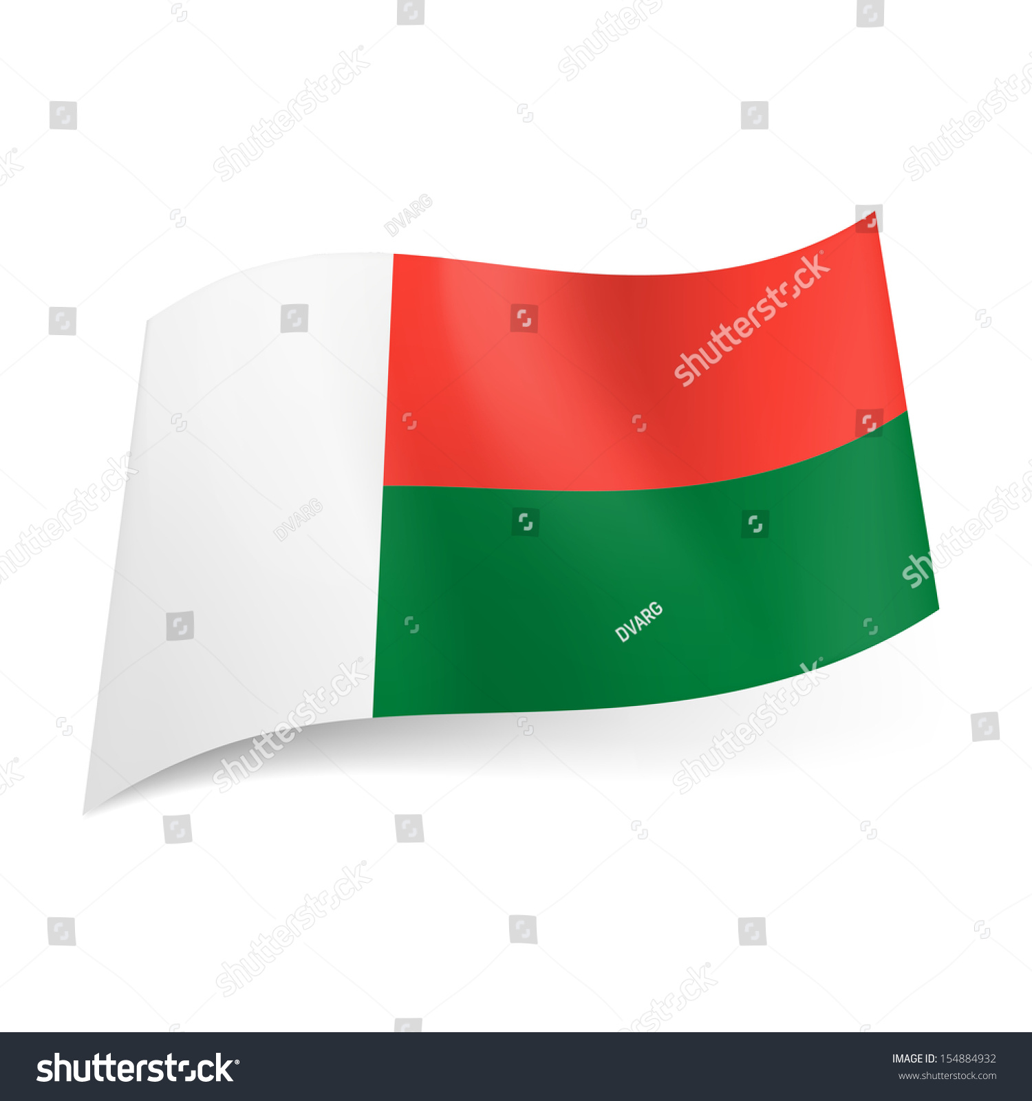 National Flag Madagascar Vertical White Band Stock Vector ... - photo#44