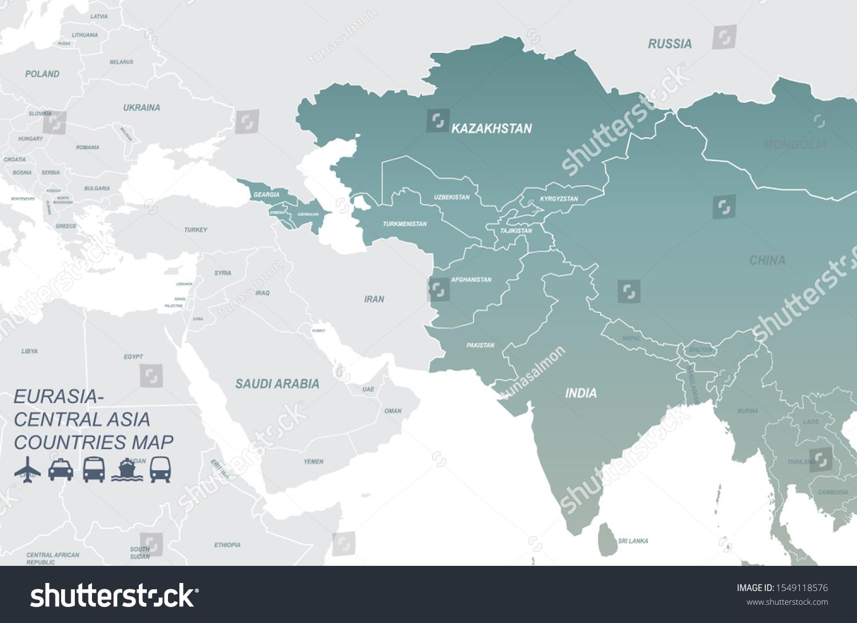 Picture of: Vector De Stock Libre De Regalias Sobre Graphic Vector Eurasia Map Eurasia Countries1549118576