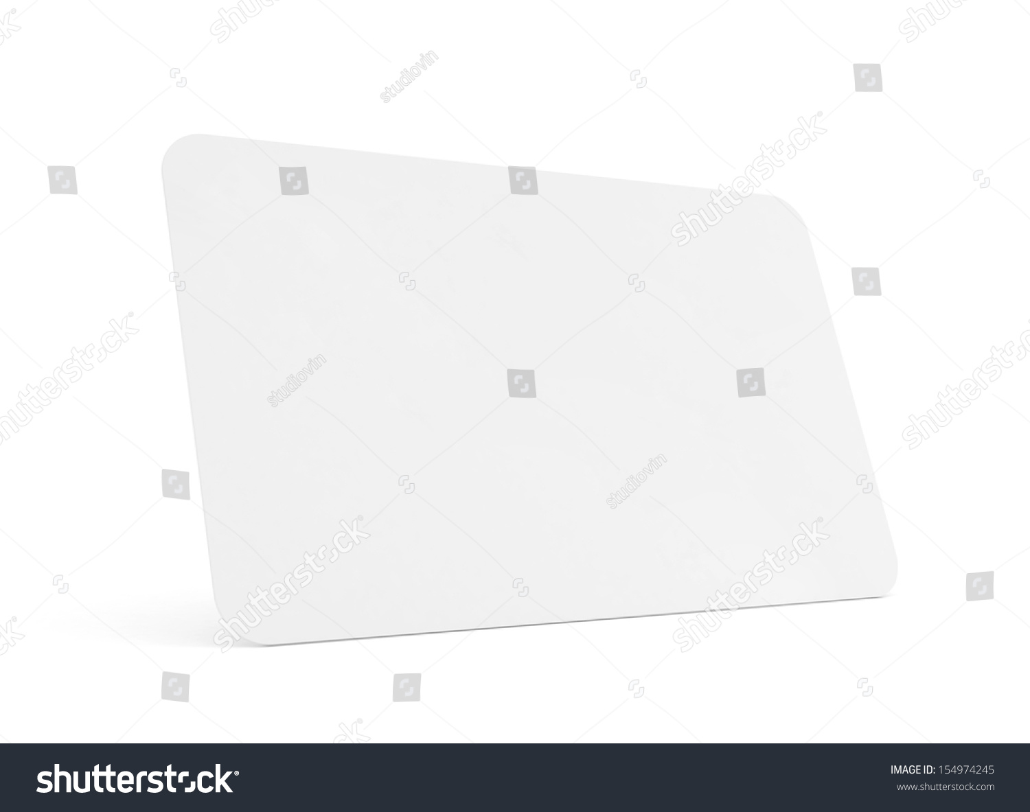 Blank Business Card Isolated On White Stock Illustration 154974245 ...