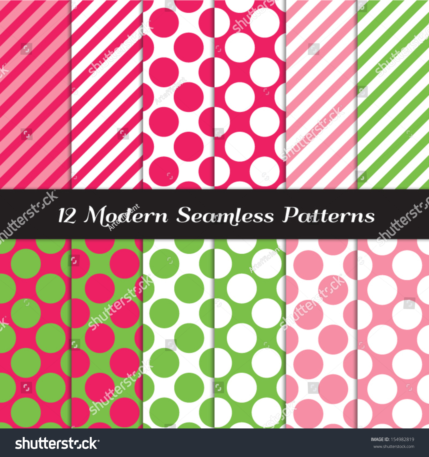 Strawberry pinks green and white jumbo polka dots and for Dots and stripes party theme