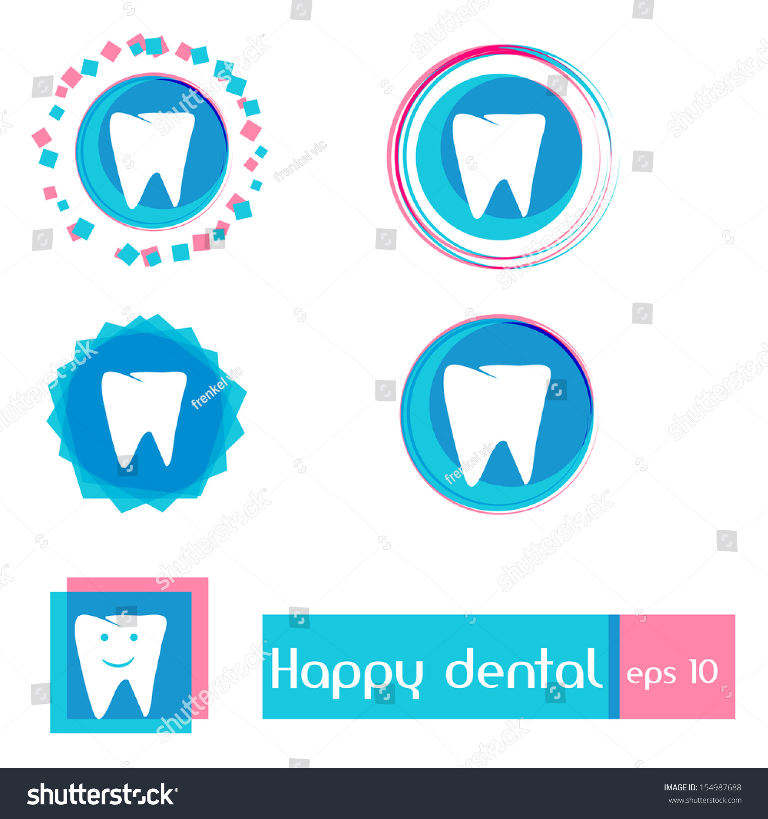 dental clinic vector icons simple clean stock vector  simple clean design happy smile best for children