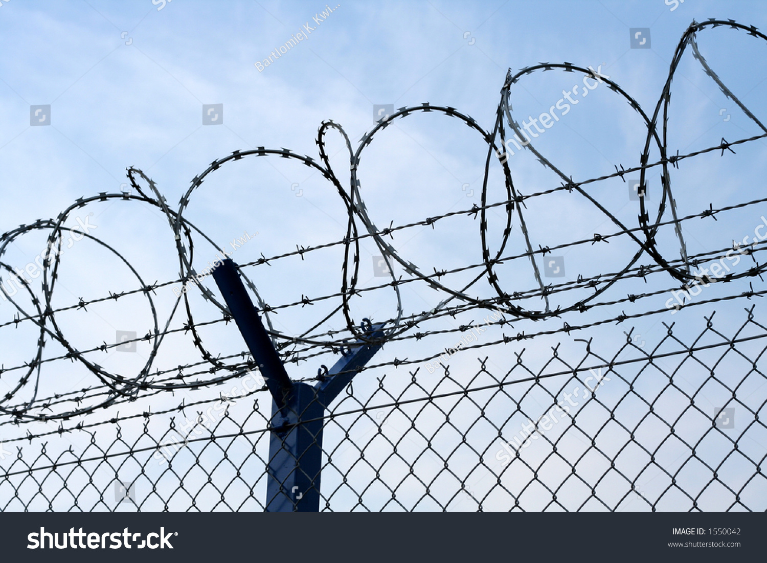 Razor Wire Atop Barbed Wire Secure Stock Photo (Edit Now)- Shutterstock