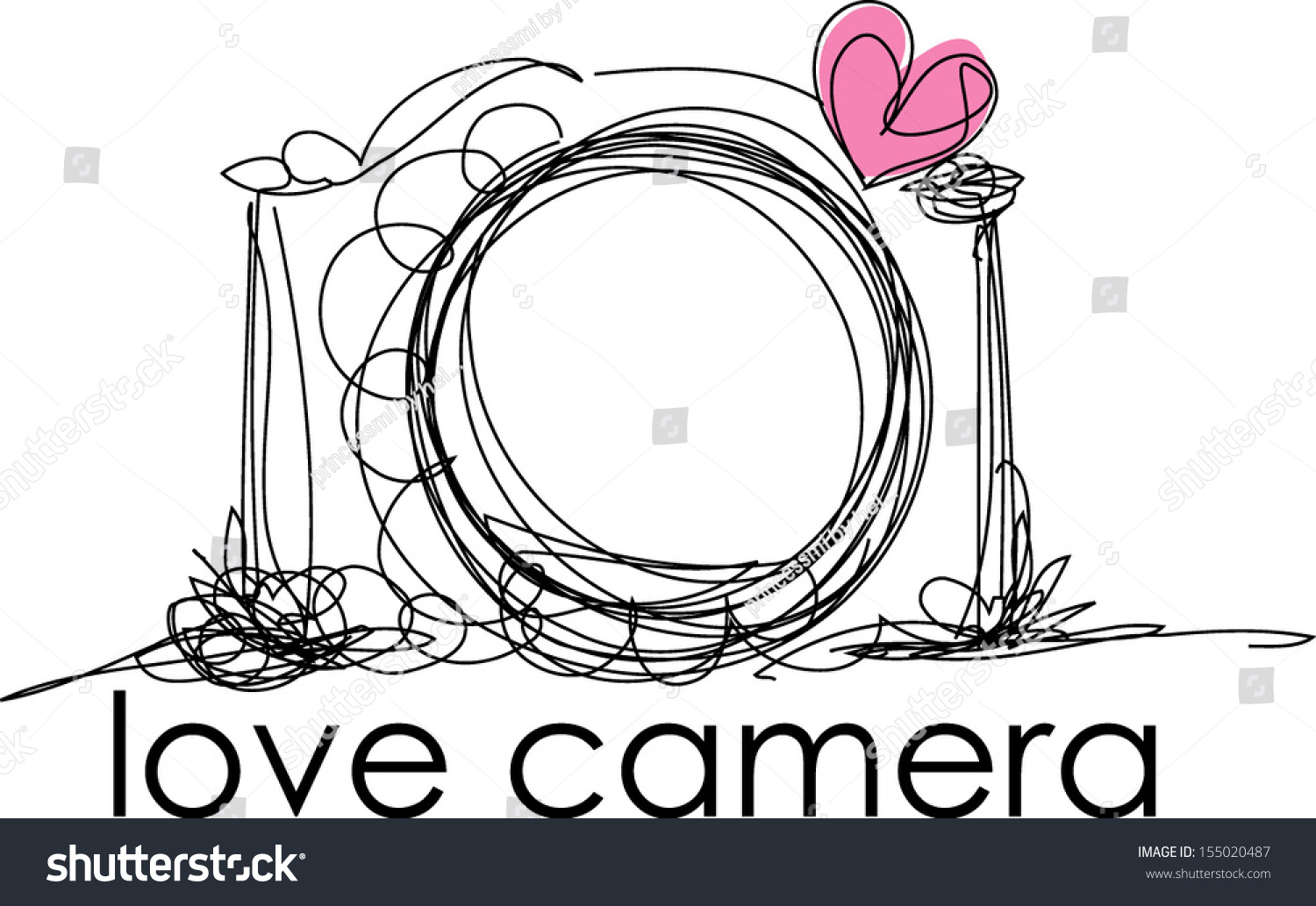 Hand Drawn Doodle Digital Camera Illustration With Little ...