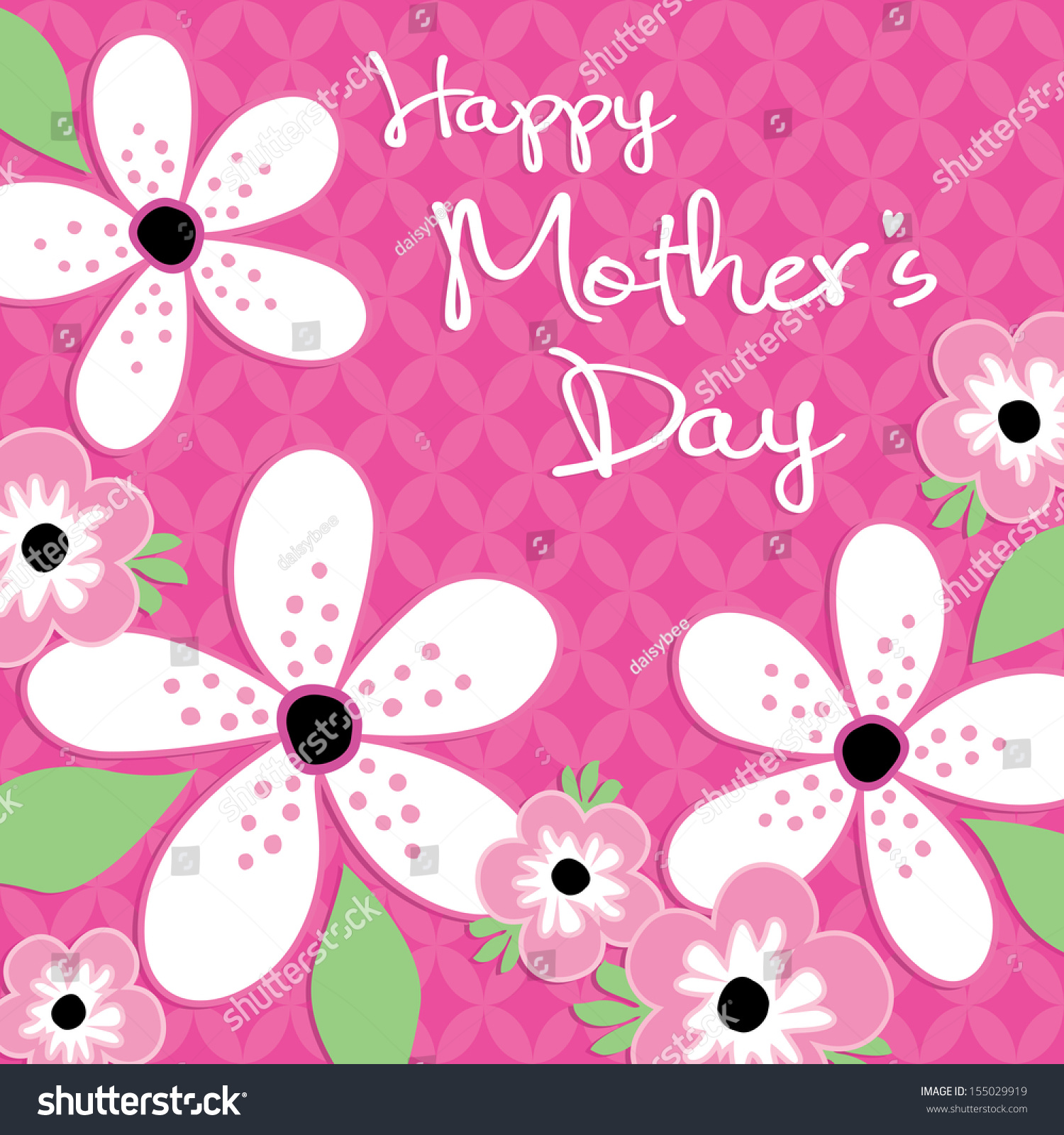 happy mothers day card template vintage stock illustration 155029919