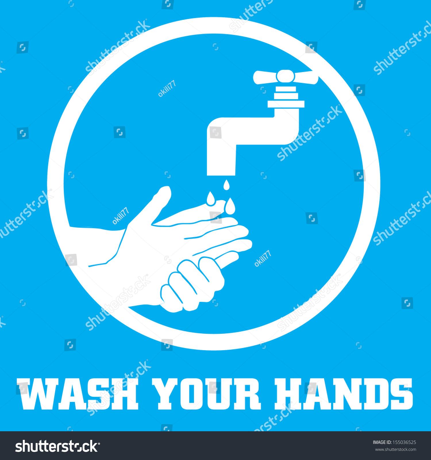 Wash Your Hands Symbol Stock Vector Royalty Free 155036525