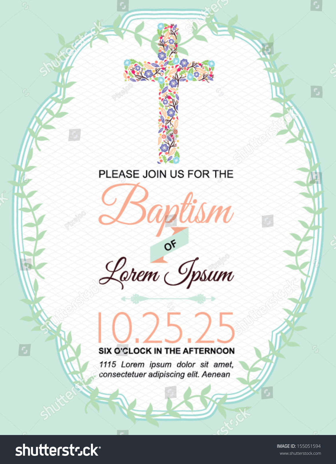 Design For Invitation Card For Christening