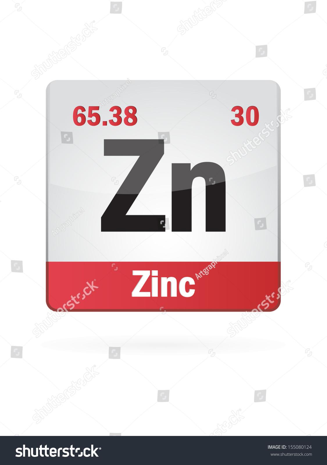 Zinc symbol illustration icon on white stock vector 155080124 zinc symbol illustration icon on white background gamestrikefo Gallery