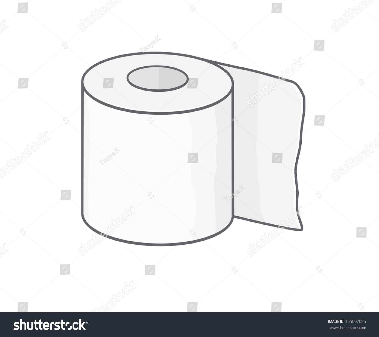 Toilet Paper Stock Vector Illustration 155097095
