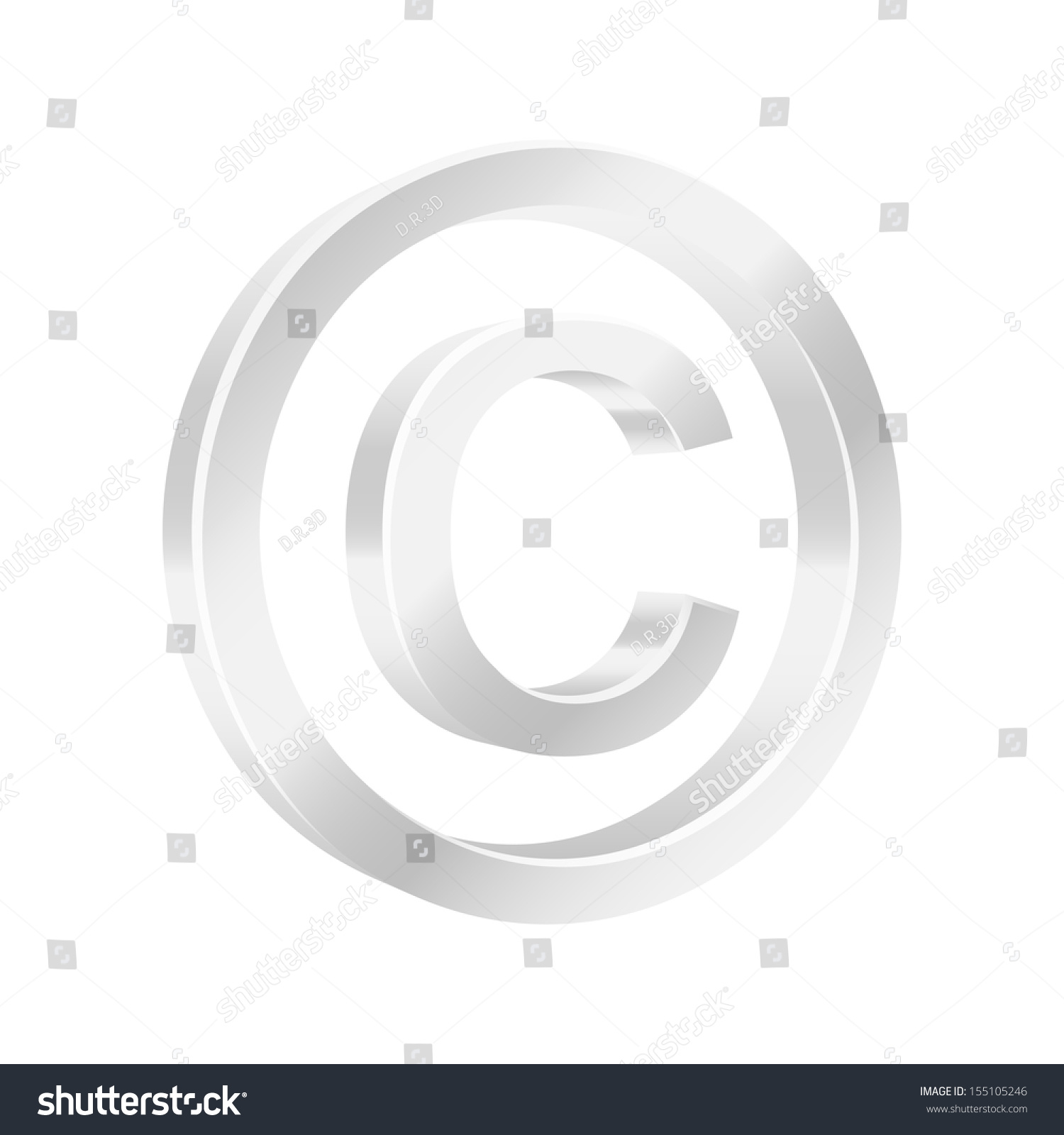 Protect Copyright Symbol 2 D Illustration Stock Illustration