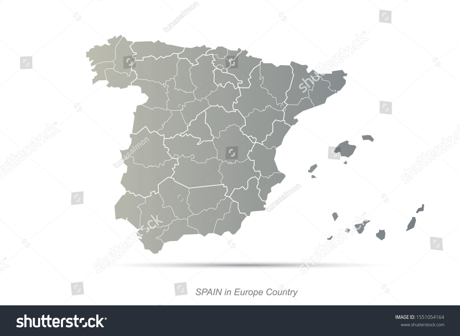 Picture of: Graphic Vector Spain Map Europe Country Stock Vector Royalty Free 1551054164
