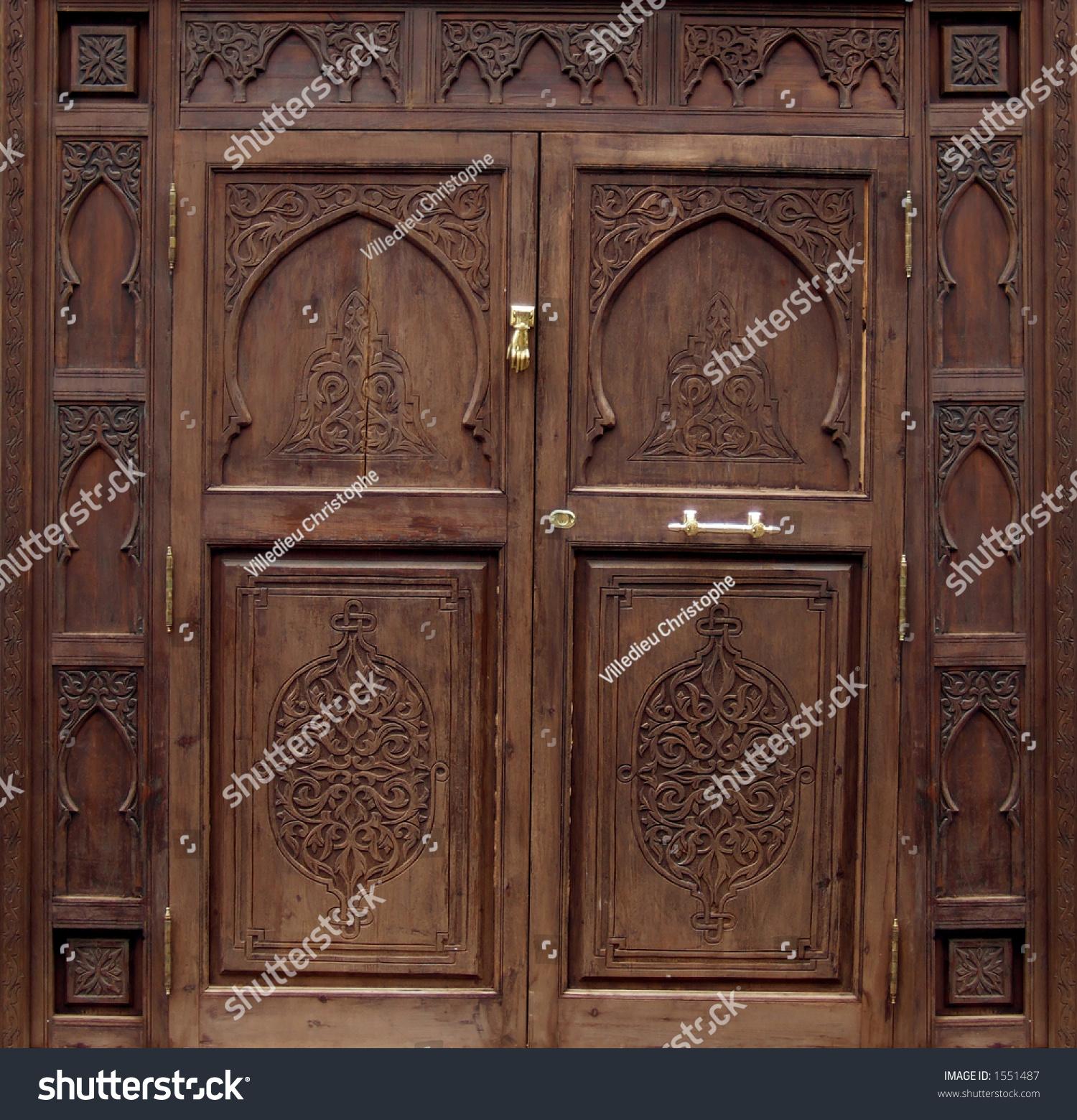 Dayar wooden front door hpd458 solid wood doors al habib panel - Pakistan Door