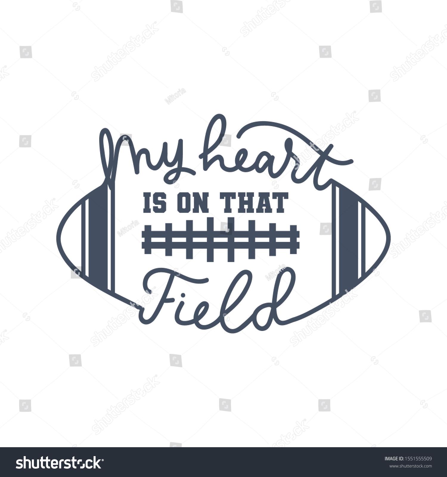 American Football Fan Print Lettering Vector Stock Vector Royalty Free 1551555509