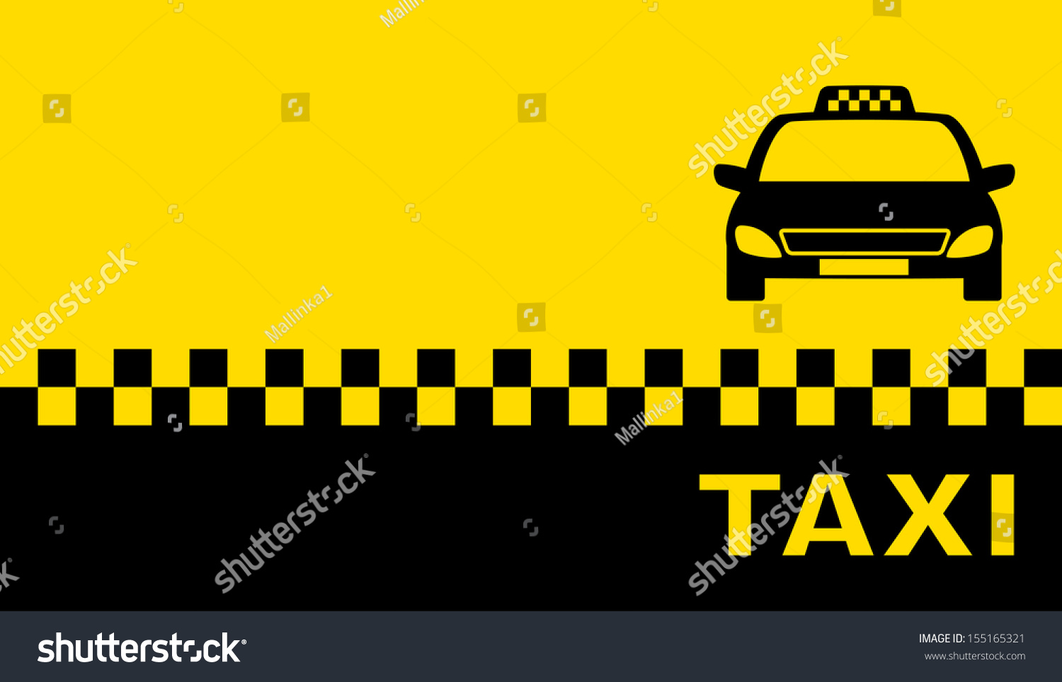 Business Card Taxi Place Text Stock Vector 155165321 - Shutterstock