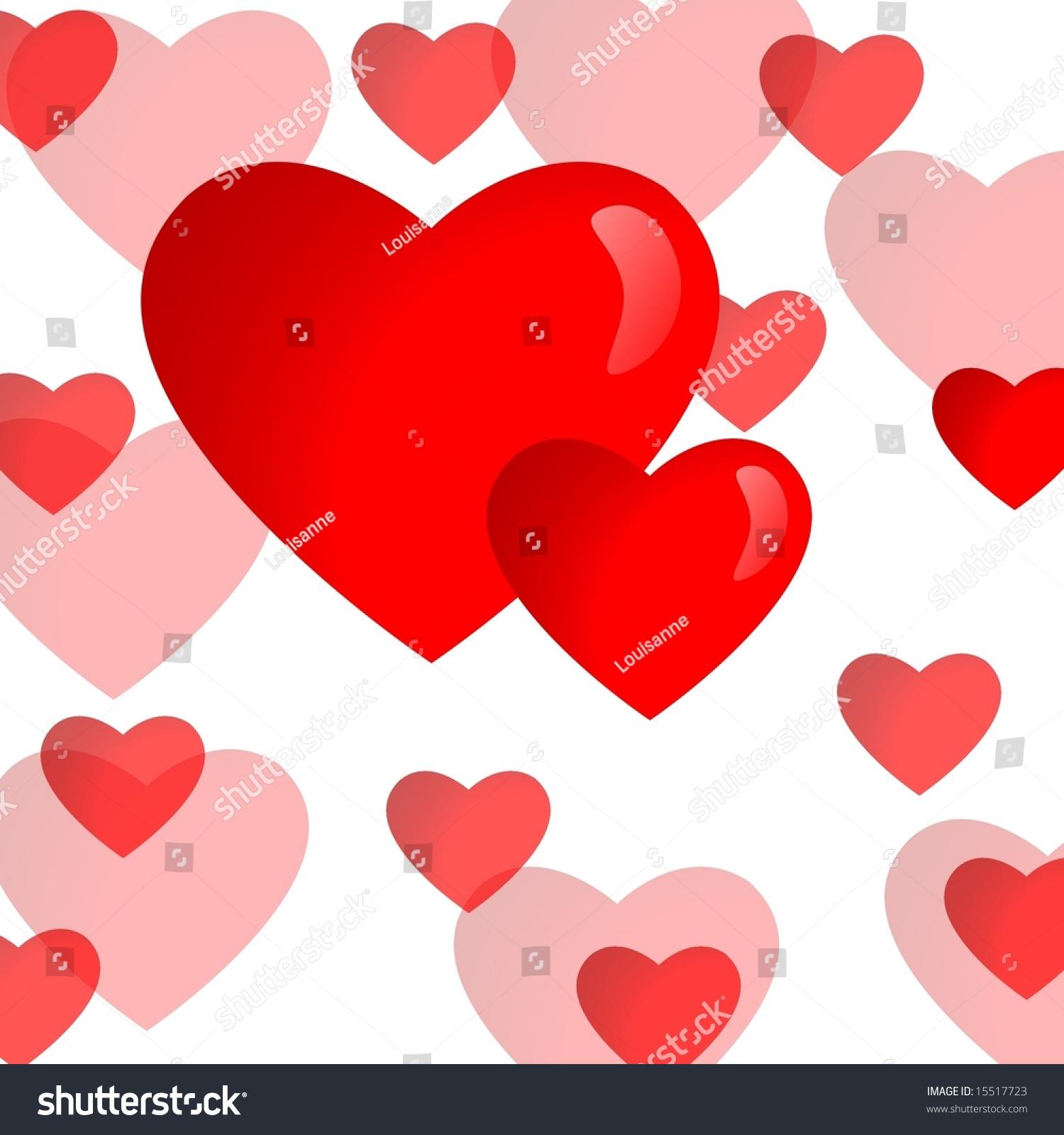 Valentine background illustration red heart symbols stock valentine background illustration with red heart symbols on white background buycottarizona Gallery