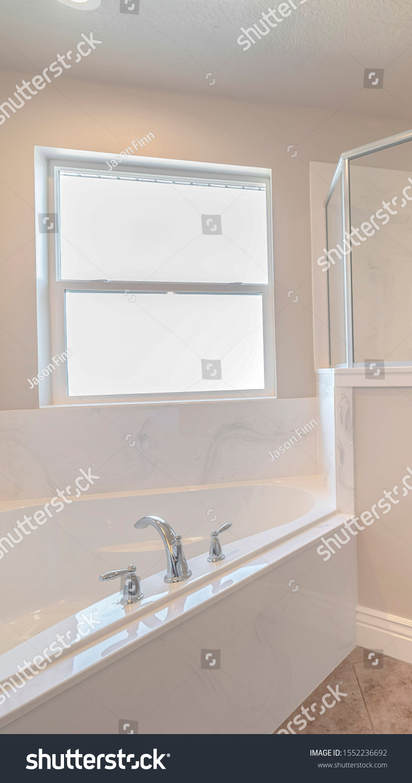 Vertical Contemporary Marble Bathroom Shower Spa Stock Photo Edit Now 1552236692