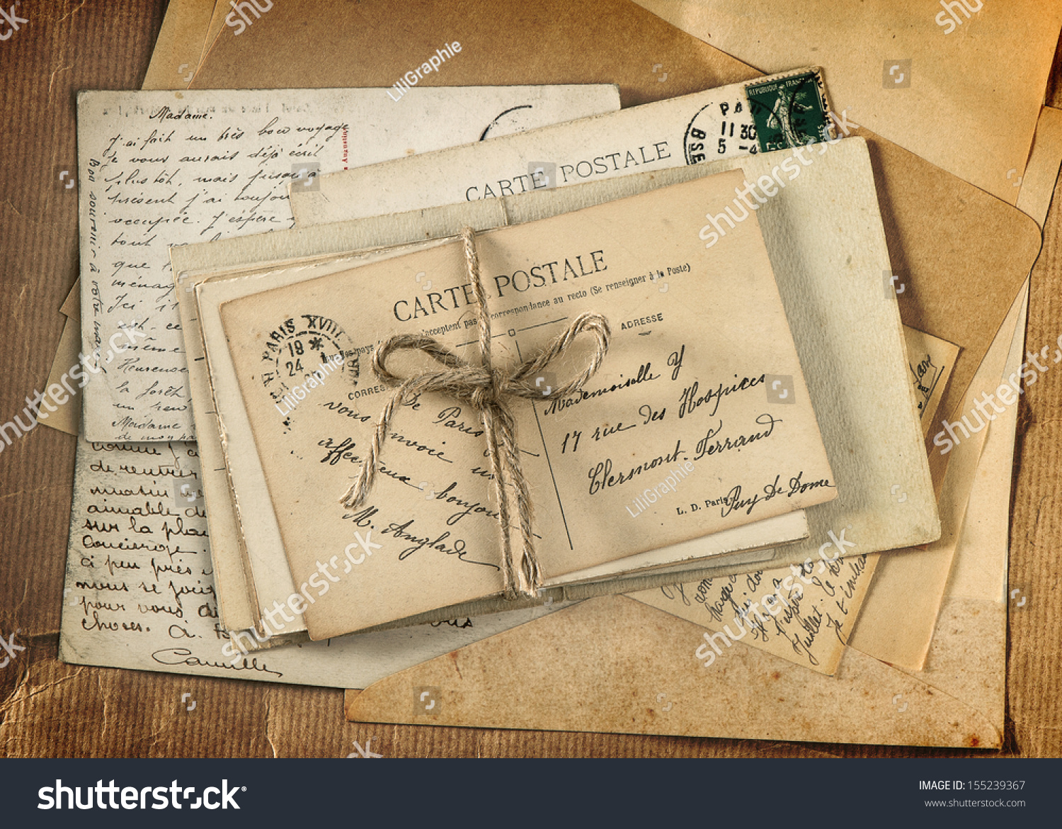old letters french postcards -#main
