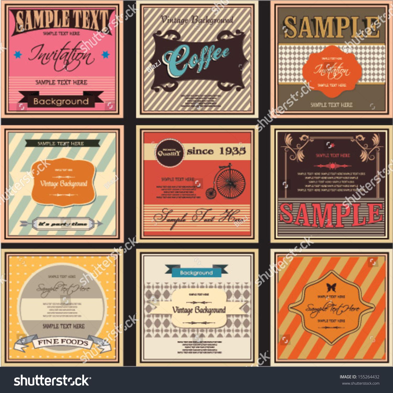 Vintage Labels Retro Packaging Stock Vector 155264432 - Shutterstock