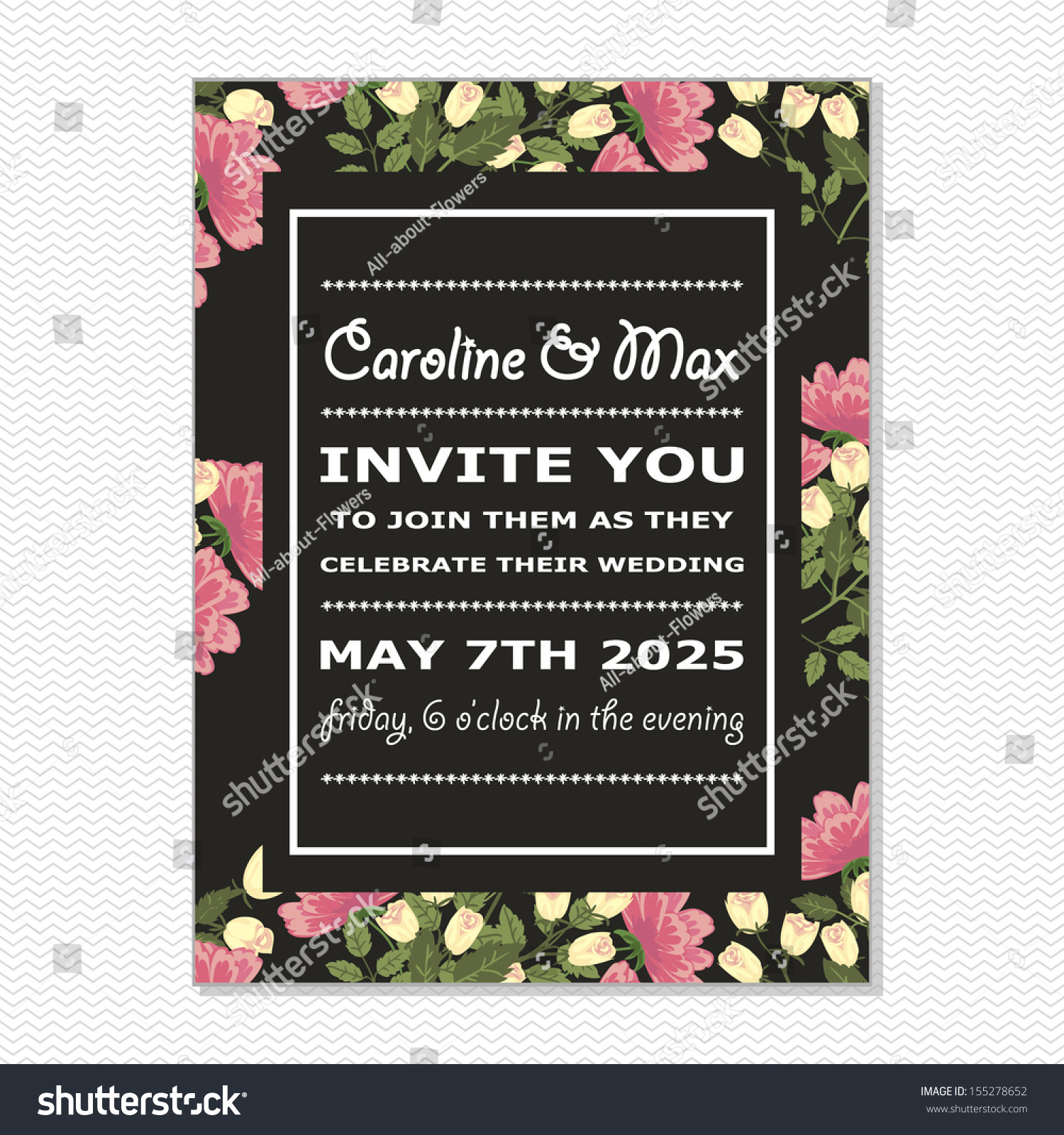 Wedding card vector file has few stock vector 155278652 shutterstock wedding card vector file has few layers for easy using stopboris Image collections