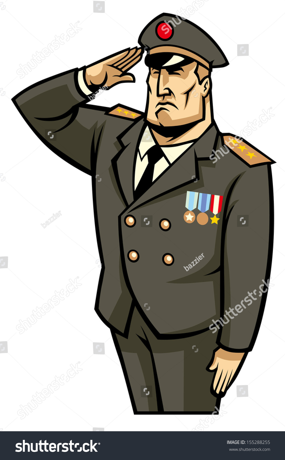 Soldier Salute Stock Vector Illustration 155288255 ...
