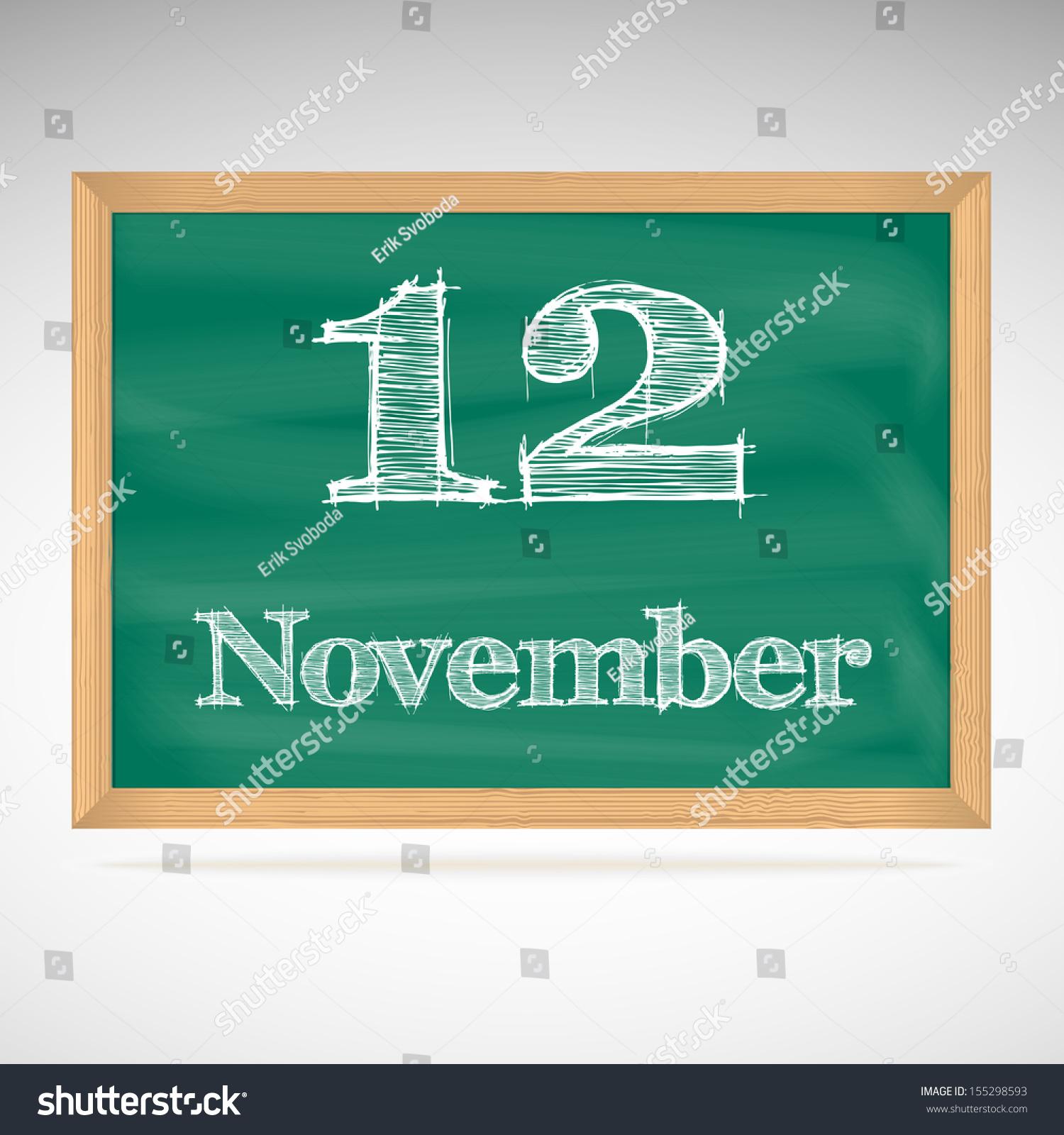 Calendar Illustration Board : November day calendar school board date stock vector