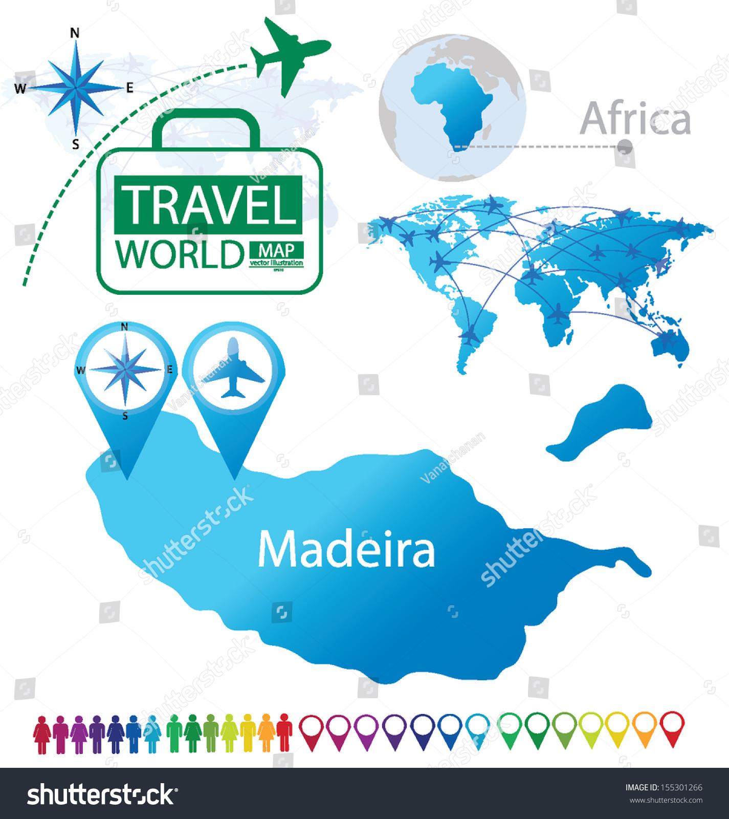 Picture of: Vector De Stock Libre De Regalias Sobre Madeira Portugal World Map Travel Vector155301266