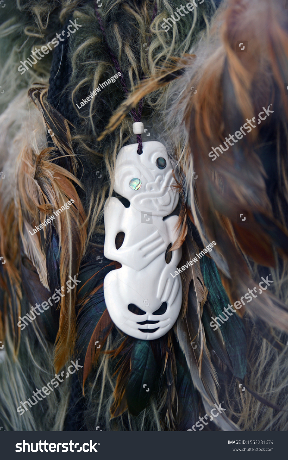 Traditional Maori Bone Carving Nestled Feather Stock Photo Edit Now 1553281679