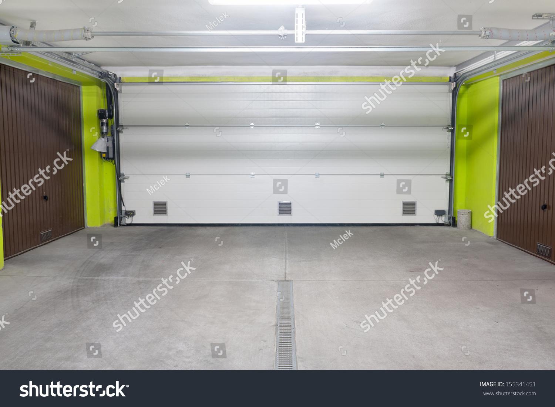 Garage Door Underground Garage Located Under Stock Photo 155341451 ... - ^