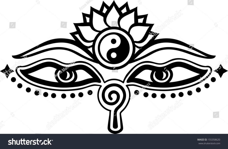 Royalty free eyes of buddha symbol wisdom 155358620 stock eyes of buddha symbol wisdom enlightenment 155358620 biocorpaavc Images