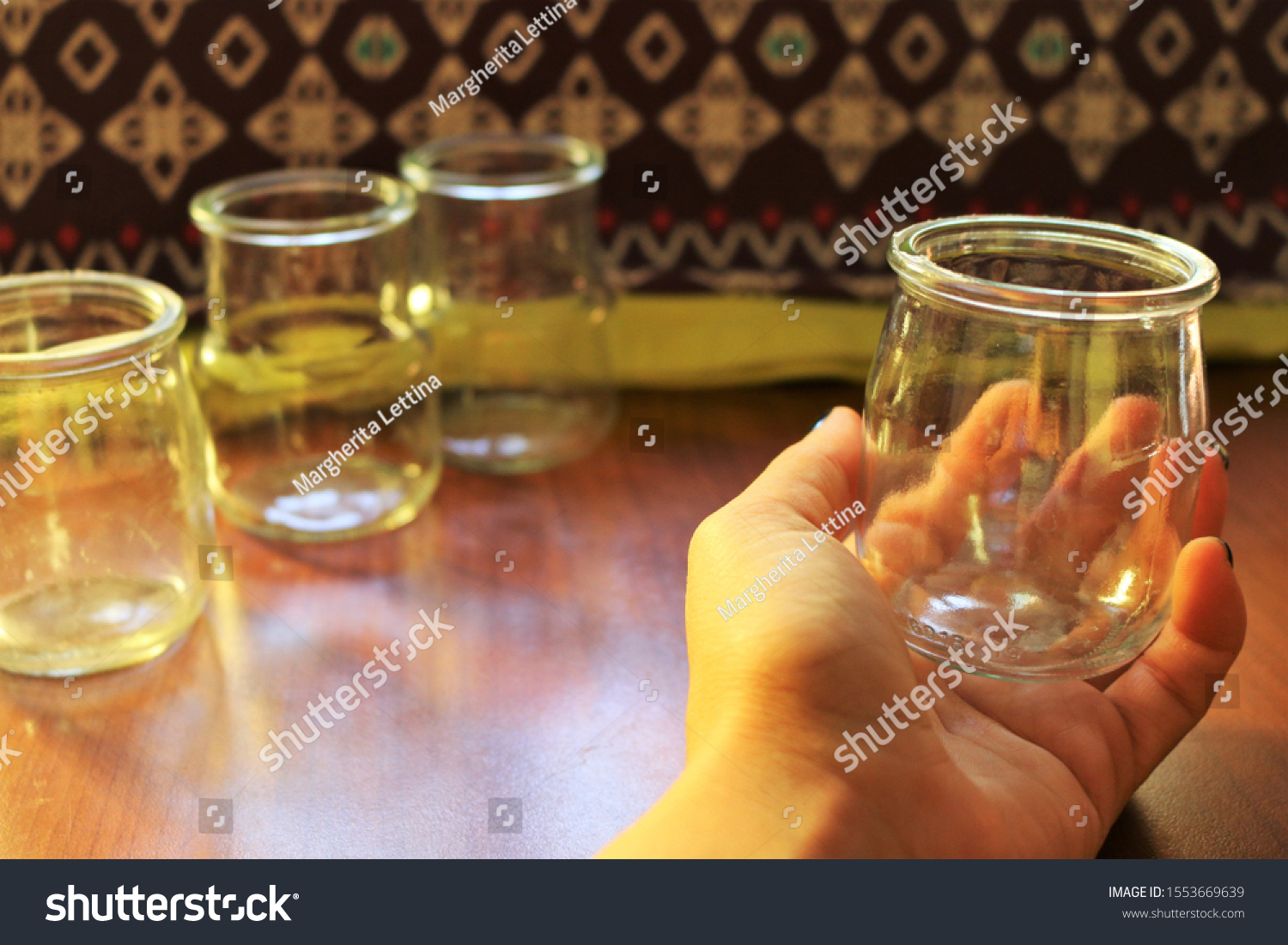 Small Glass Jar Empty Diy Craft Stock Photo Edit Now 1553669639