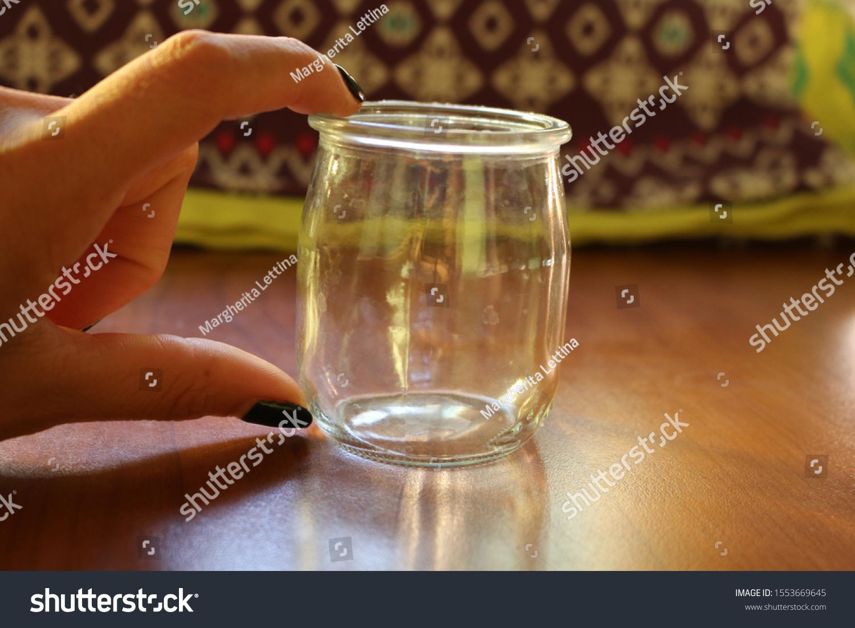 Small Glass Jar Empty Diy Craft Stock Photo Edit Now 1553669645