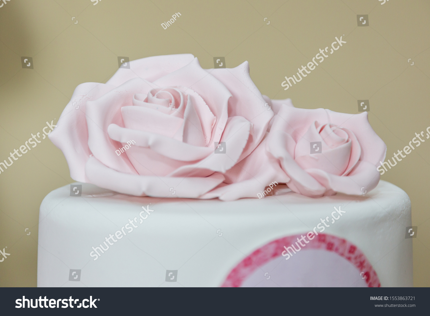 Wondrous Rose Flower Details On Birthday Cake Stock Photo Edit Now 1553863721 Funny Birthday Cards Online Alyptdamsfinfo