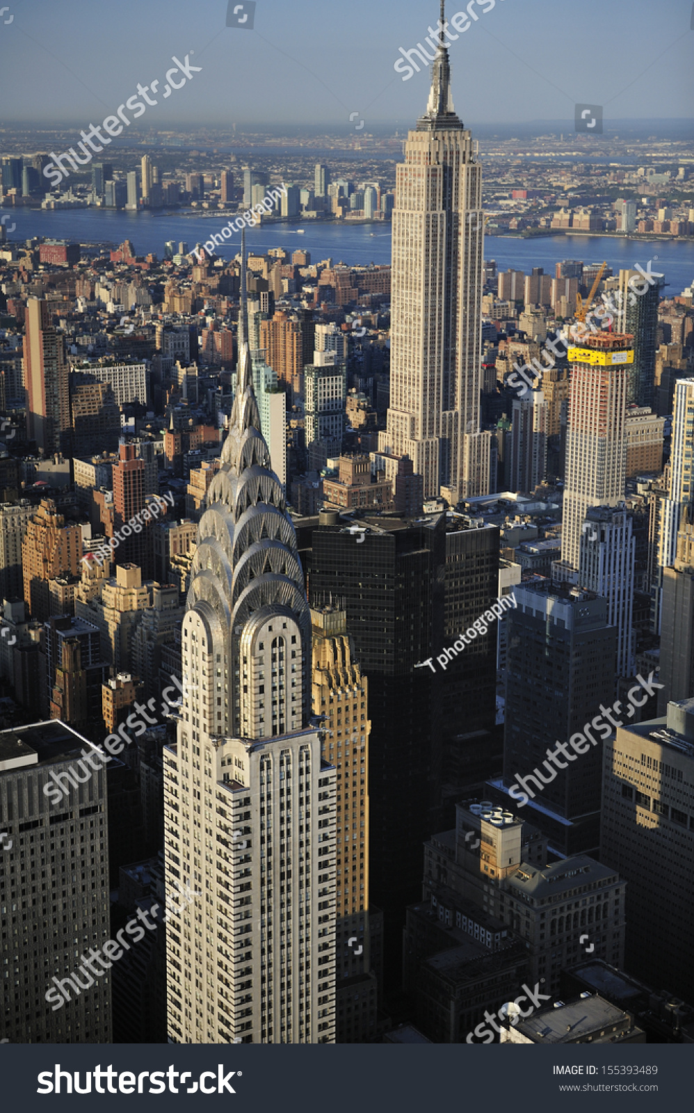 aerial view new york city skyline stock photo 155393489 shutterstock. Black Bedroom Furniture Sets. Home Design Ideas