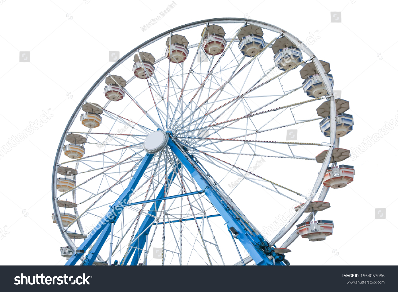 Ferris wheel isolated on white background #1554057086