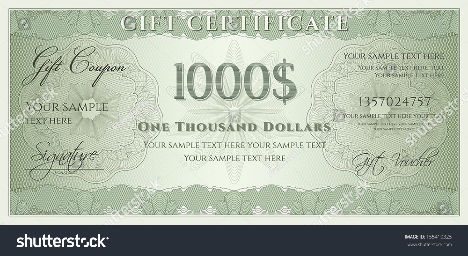 voucher gift certificate coupon ticket template stock