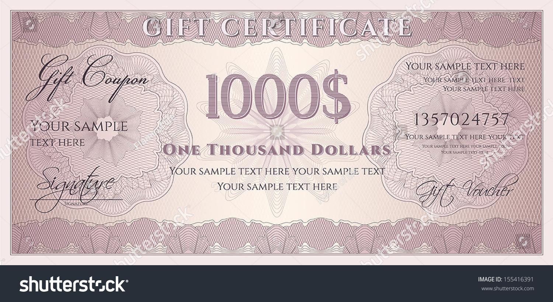 voucher gift certificate coupon ticket template stock vector