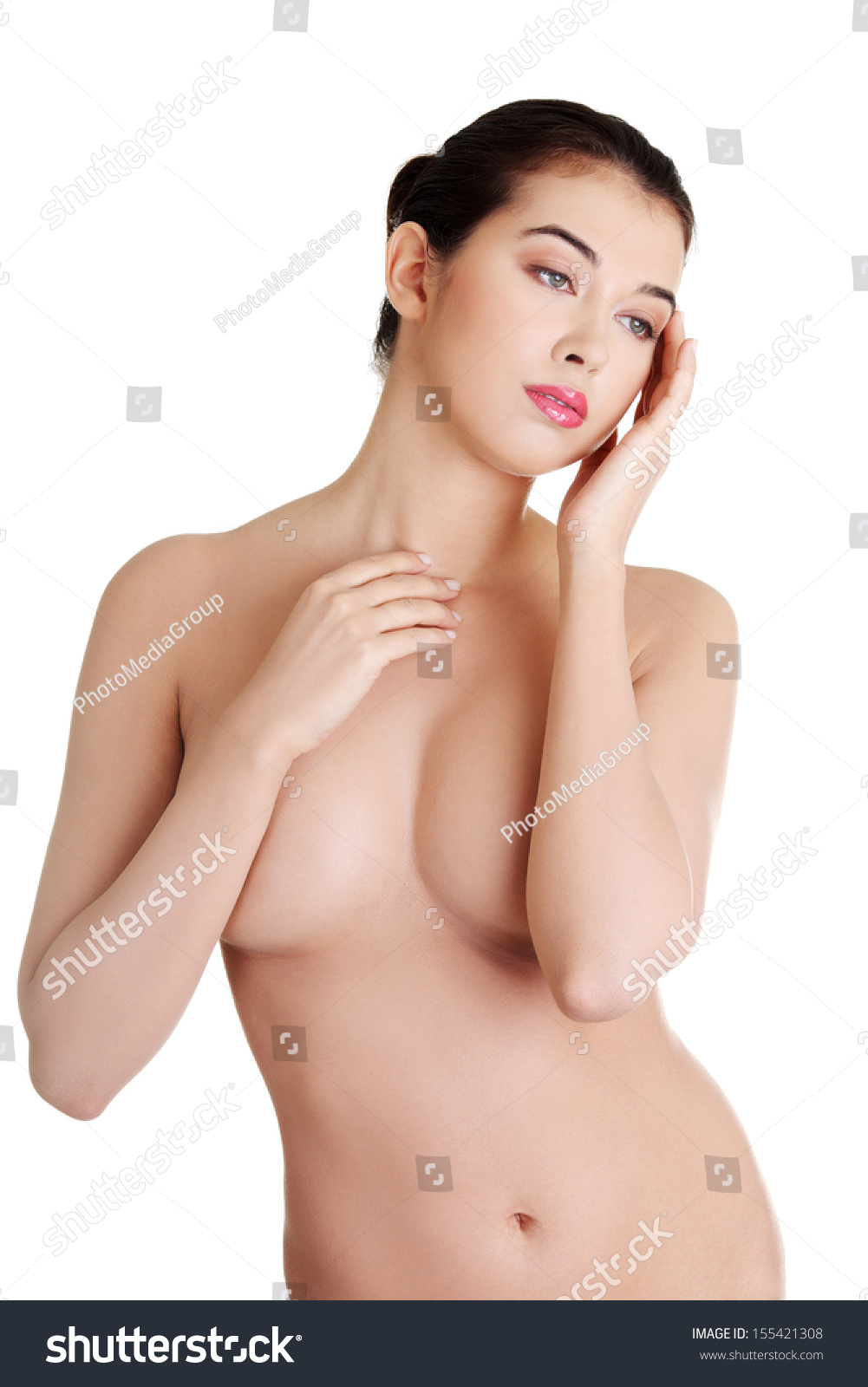 Busty muscular topless are